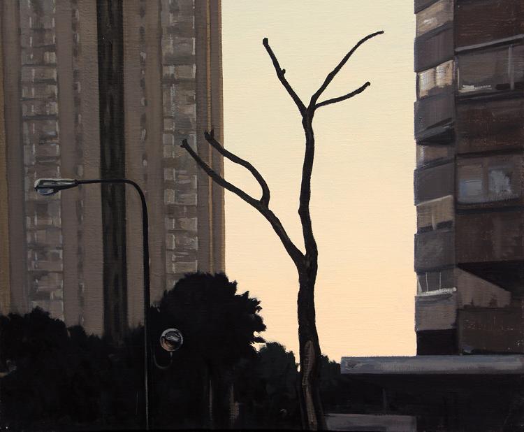 """""""Extraña pareja""""- Óleo sobre lienzo, 46x55 cm."""