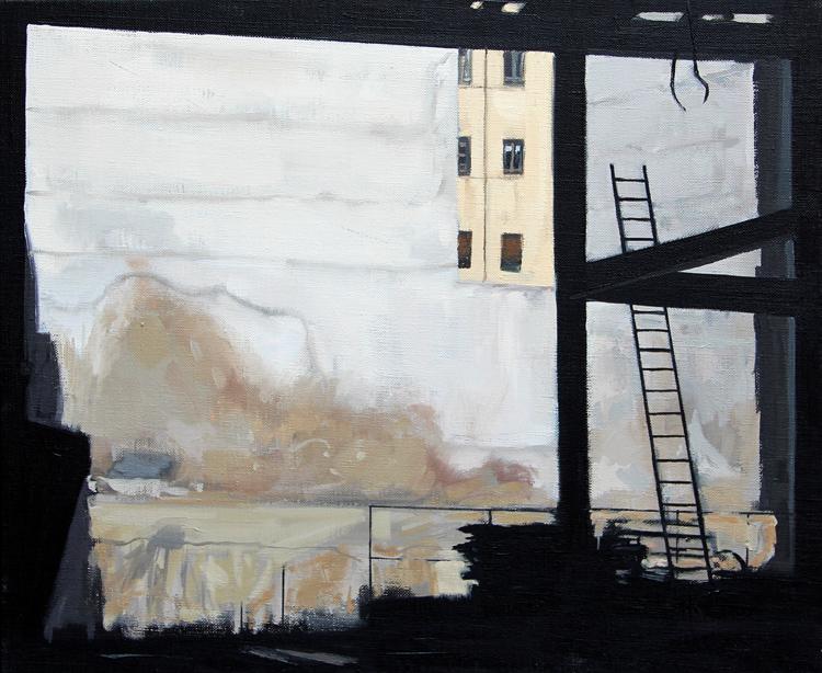 """""""Todo un teatro""""- Óleo sobre lienzo, 38x46 cm."""