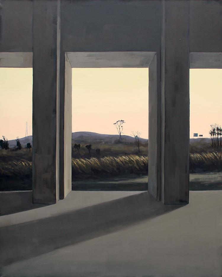 "Sonata 1 ""Sur"" - Óleo sobre lienzo, 162x130 cm."