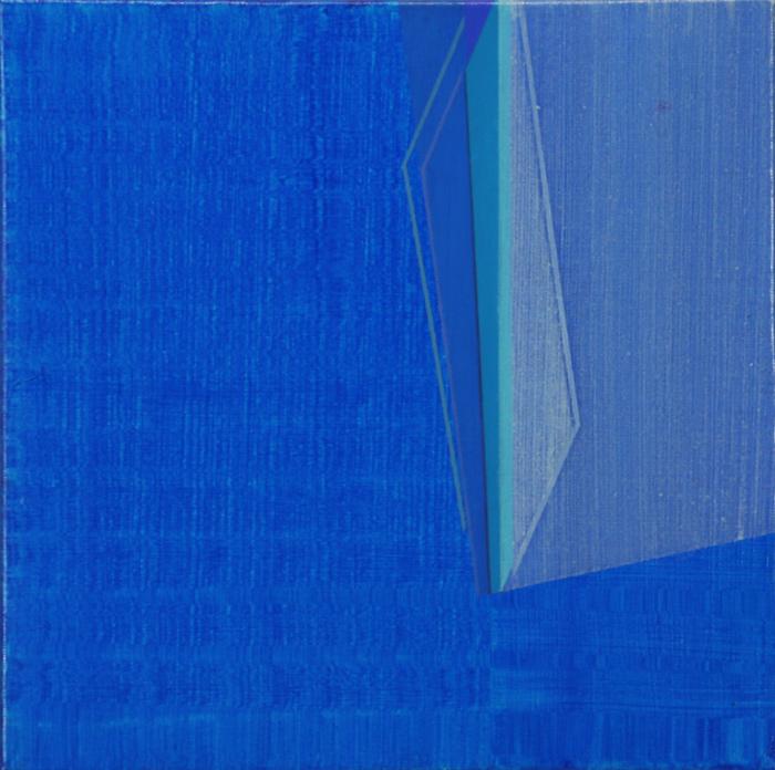 Agua y ceniza II. 40x40cm.   Óleo y acrílico/lienzo. 2012