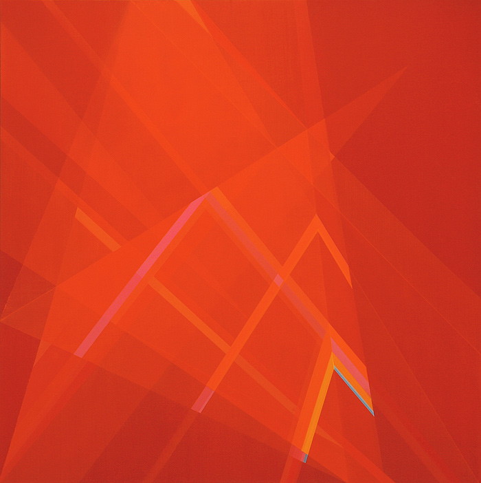 Cantiga de Suso I. 100x100cm.  Acrílico/lienzo. 2013