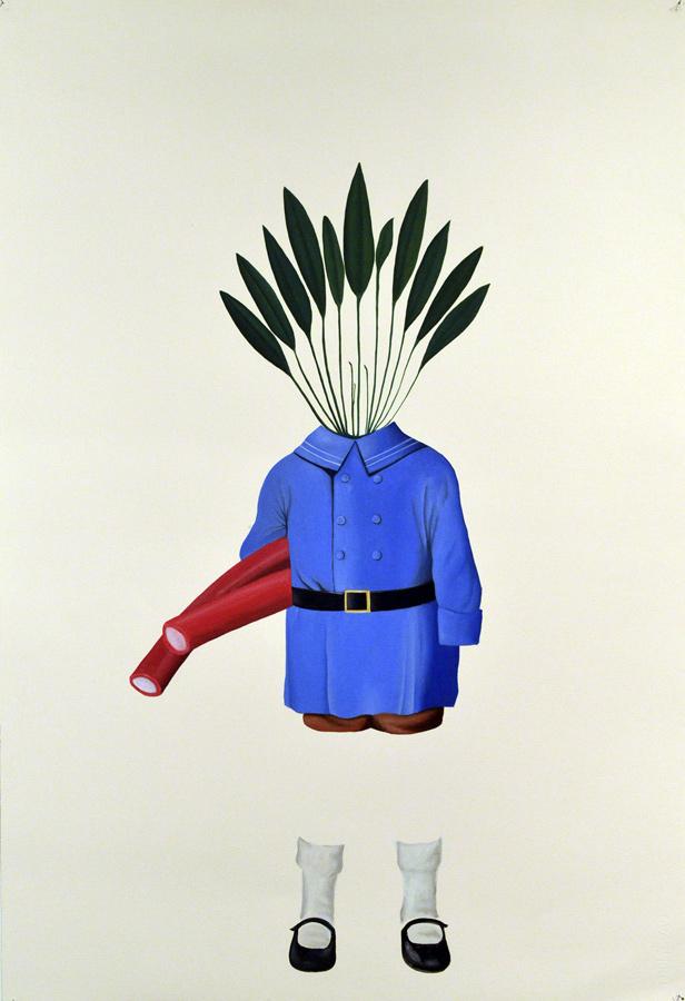 Niño, 2015, óleo sobre papel 112x76 cm.