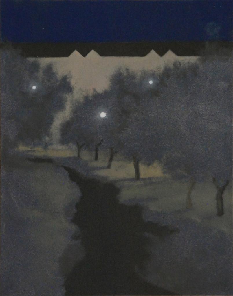 Nocturno. Óleo sobre tabla. 22,9 x 18,1. 2016