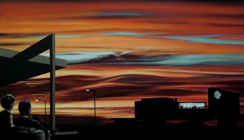 Crepúsculo de la Era Atómica (Óleo sobre lienzo 70x40 cm) 2016