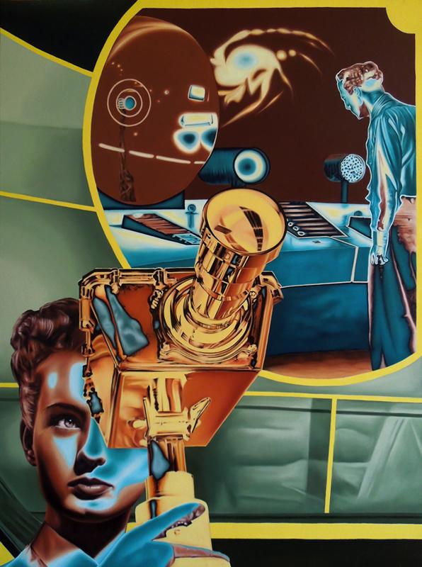 Cosmología (Óleo sobre lienzo 130x97 cm) 2016