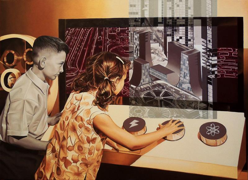 Futuro Desvelado (Óleo sobre lienzo 100x73 cm) 2014