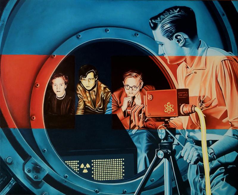 Radium TV (Óleo sobre lienzo 100x81 cm) 2014