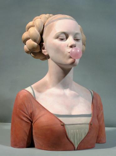 Gerard Mas, Dama del Xiclet, 2008, 45x36,5x24,5 cm. Resina policromada.