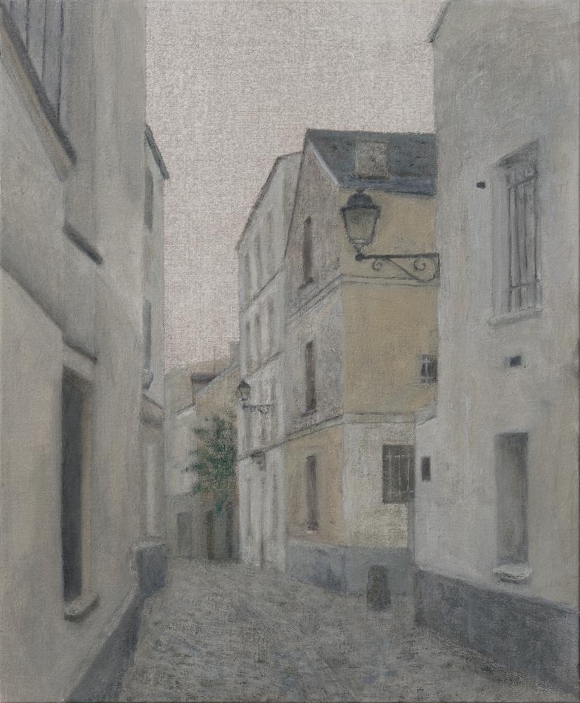 París - Rue à Montmartre O-L 46x38