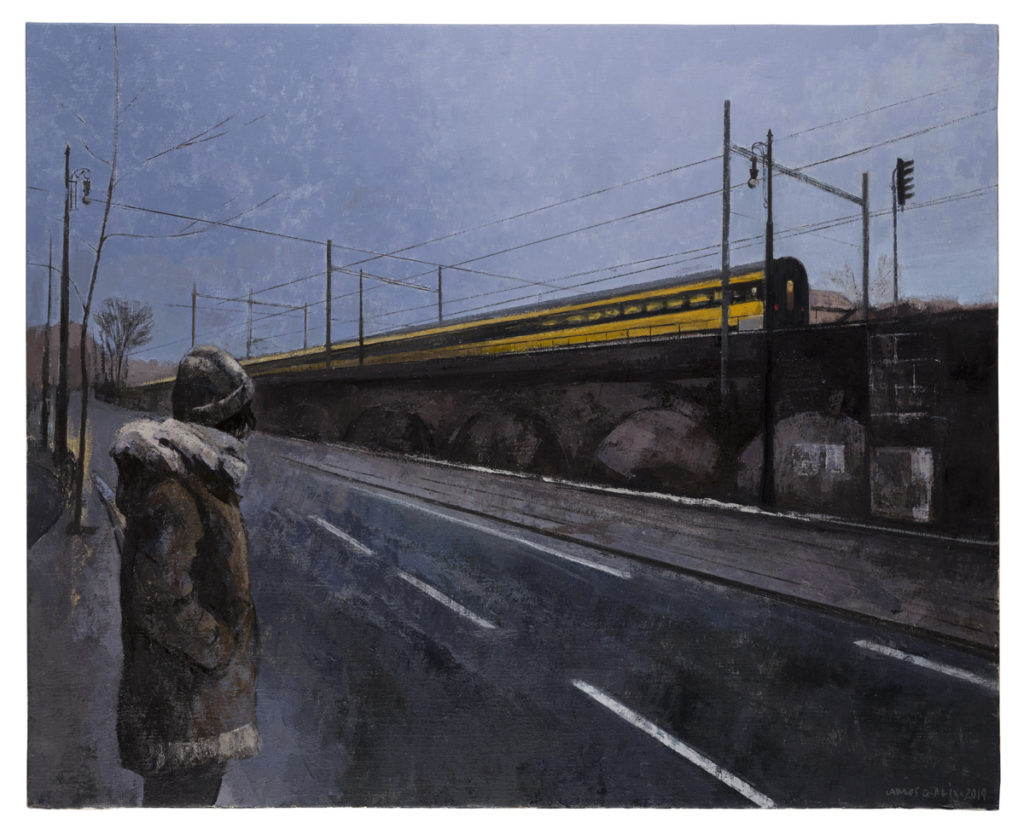 Ultimo tren, Praga, 2018 Óleo sobre lienzo 81 x 100 cm