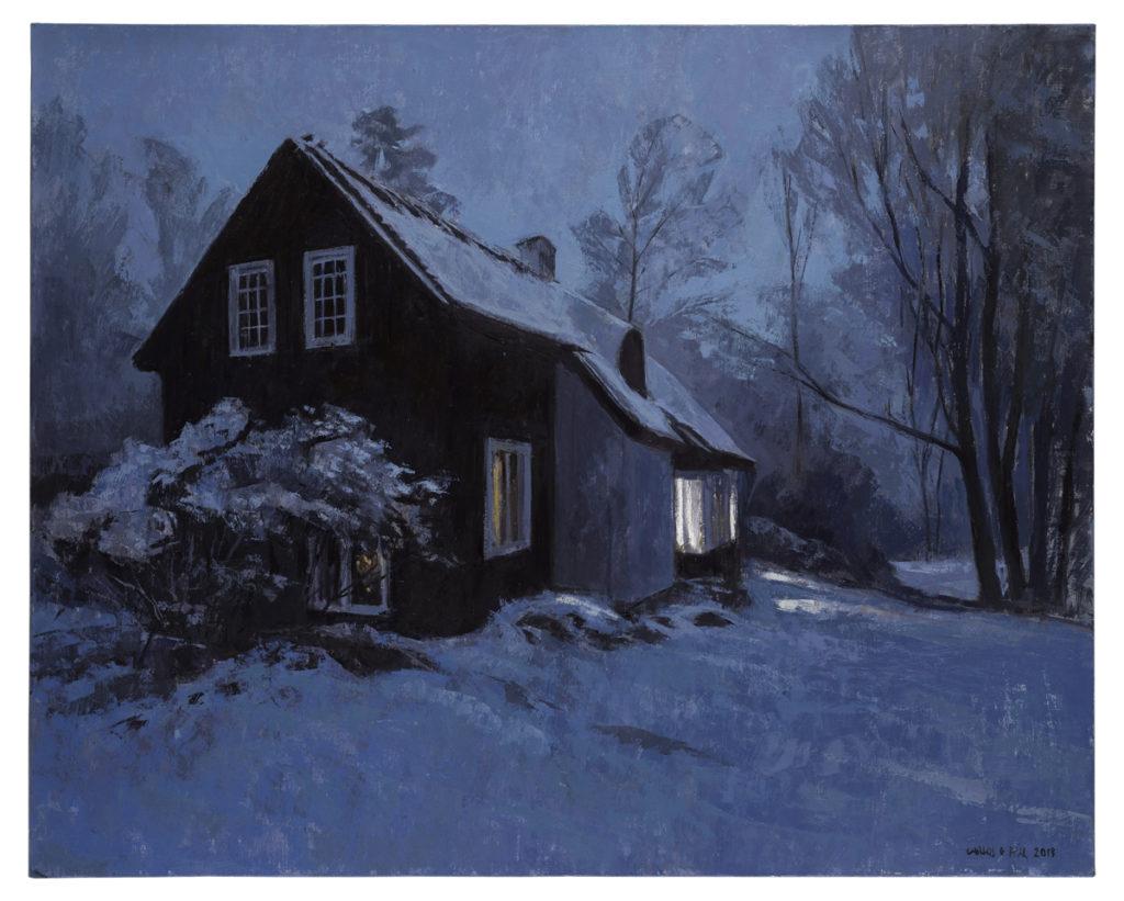 La casa del fiordo, 2019  Óleo sobre lienzo 73 x 92 cm