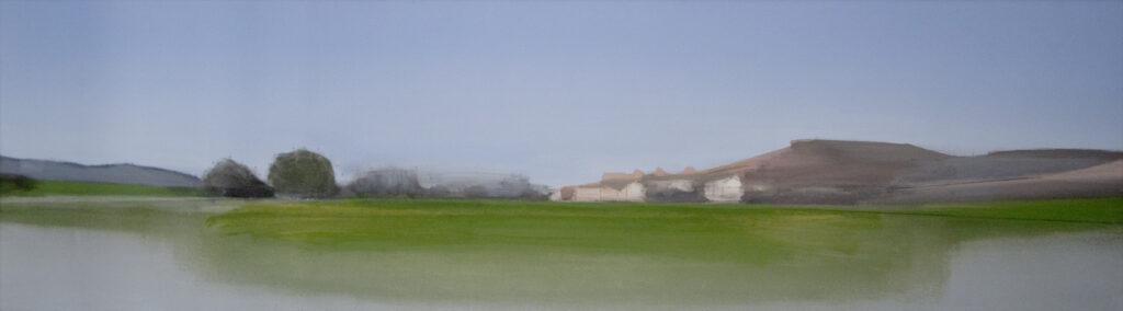 Santa Cruz. Óleo sobre lienzo. 40 x 136 cm.