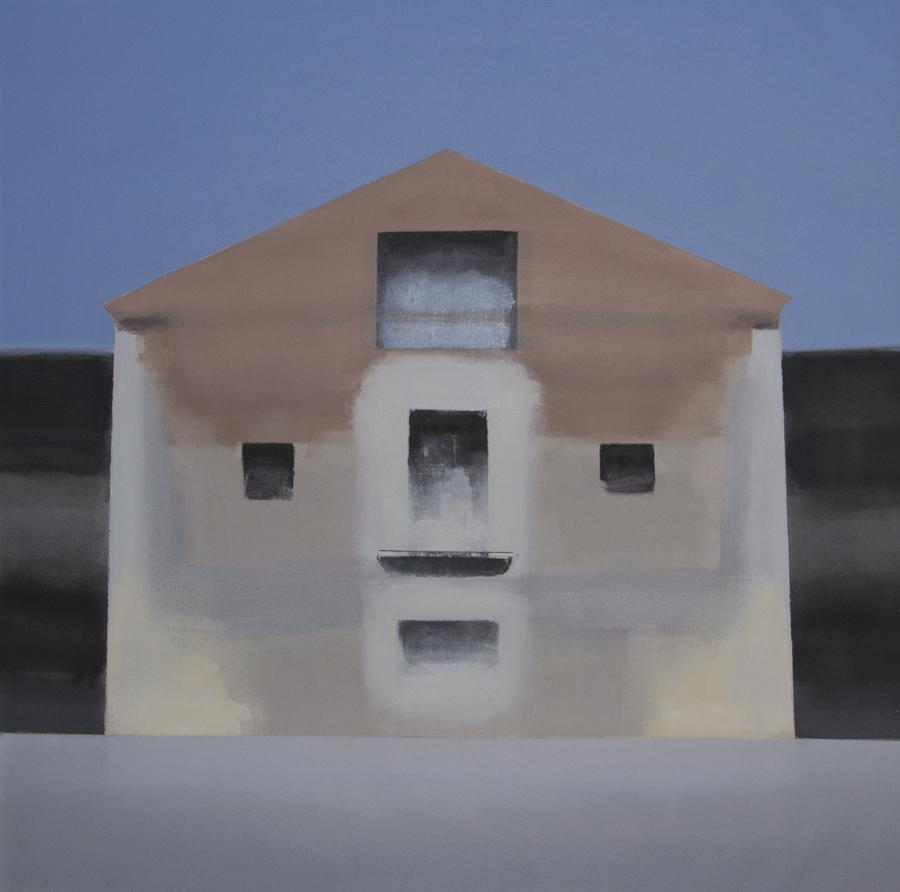 Casa Elvira II. Óleo sobre lienzo. 90 x 90 cm.