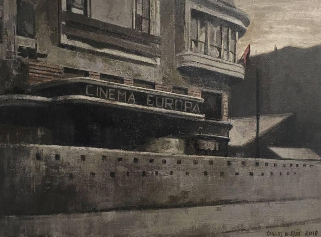 Carlos García-Alix. Carretera de Francia, 2018, Óleo sobre lienzo 48 x 65 cm.