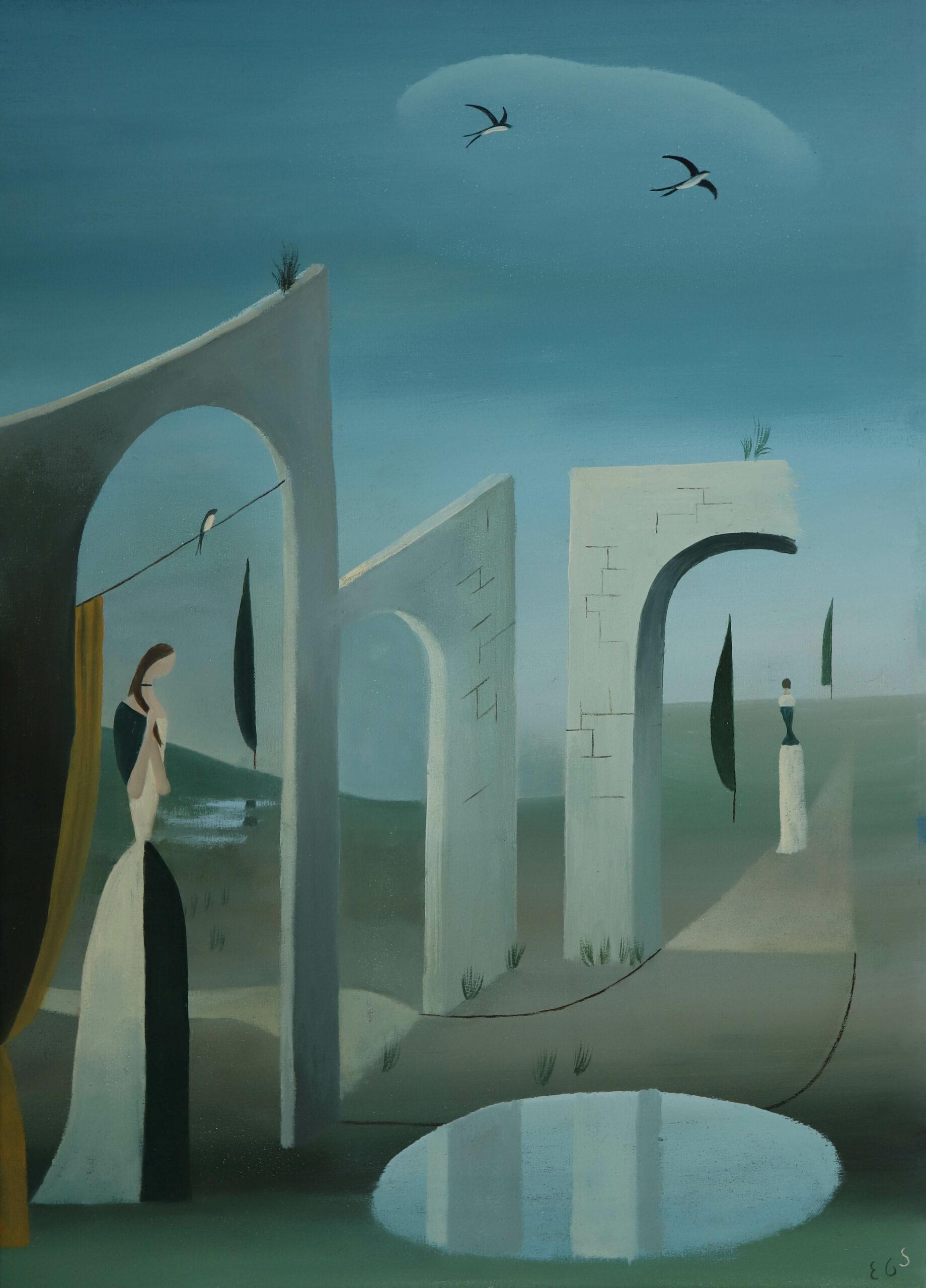 Los arcos II. o,tela. 46x33. 2020