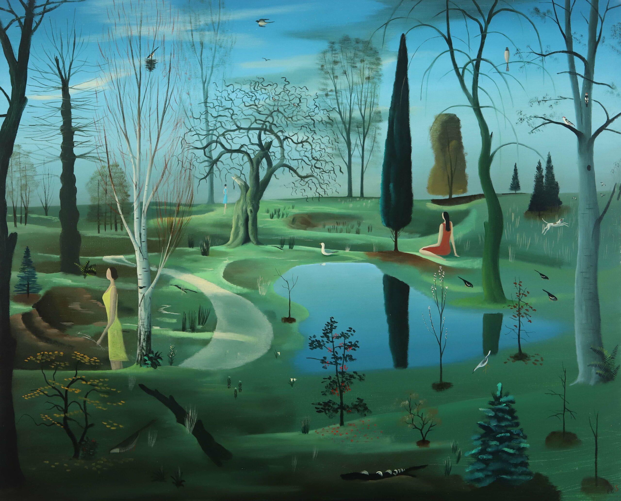 Parque Chéjov. o,tela. 81x100.2020