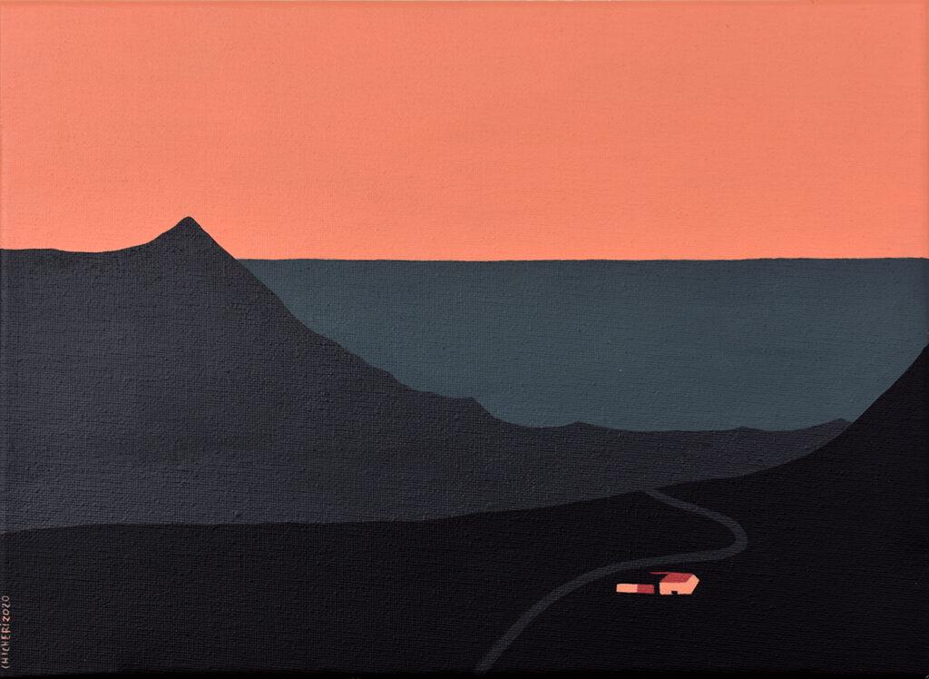 Carretera hacia el norte Acrílico/lienzo 33 x 24 cm