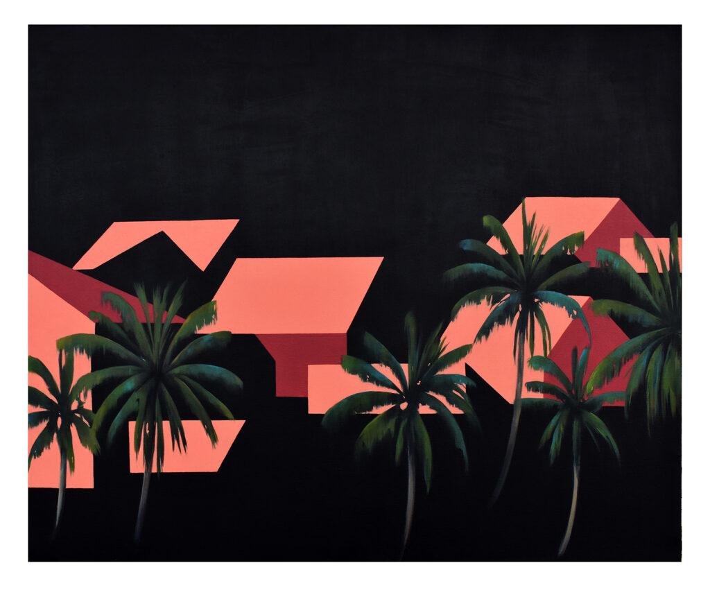 Desde las palmeras III Acrílico/lienzo 100 x 80 cm
