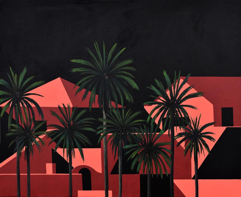 Desde las palmeras IV Acrílico/lienzo 100 x 80