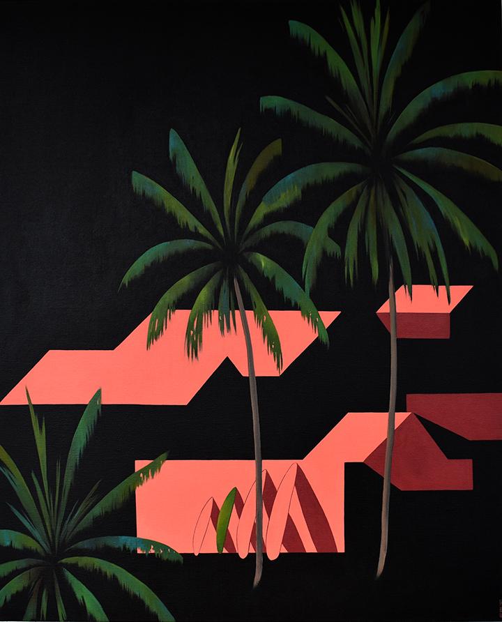 Desde las palmeras VI Acrílico/lienzo 81 x 104 cm