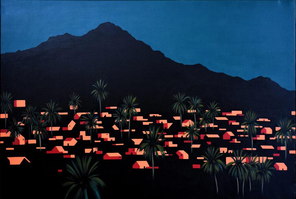 Desde las palmeras VII Acrílico/lienzo 81 x 54 cm