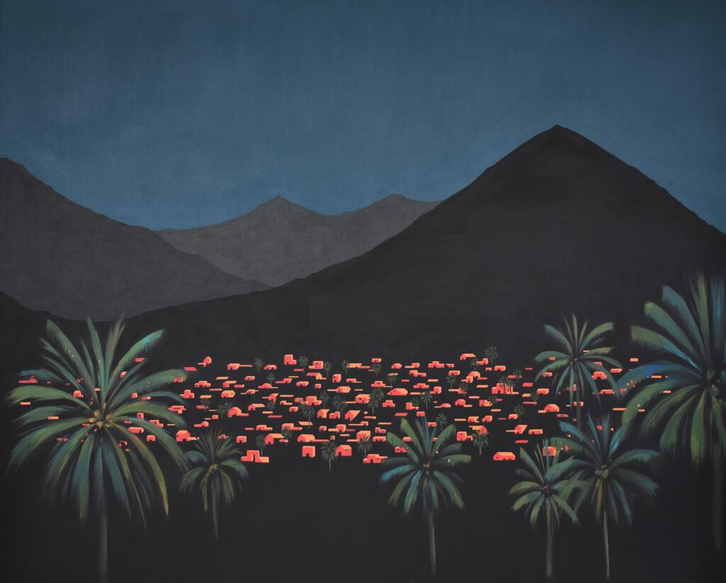 Desde las palmeras VIII Acrílico/lienzo 162 x 130 cm