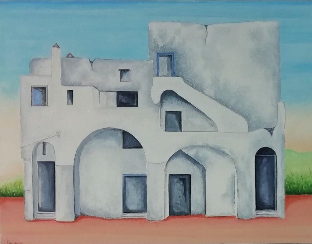 11 Vieja Arquitectura 20. Pródiga, Nápoles. Acrílico sobre Tela. 35x27 cm, sm.