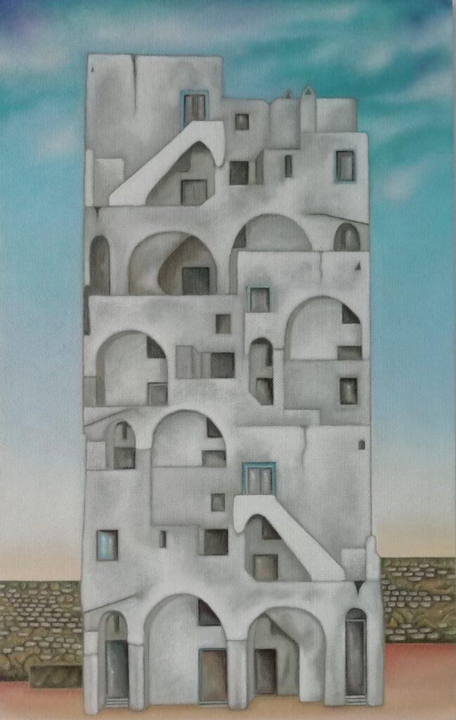 4 Arquitectura Povera  20. Prócida, Nápoles. Óleo Táblex. 70x44 cm